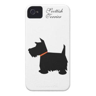 Cas de l'iphone 4 de silhouette de chien de Terrie Coques Case-Mate iPhone 4