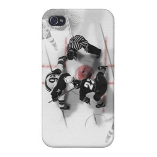 Cas de l'iPhone 4 d'hockey Coques iPhone 4/4S