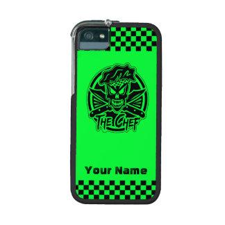 Cas de l'iPhone 5/5S de crâne de chef : Vert de Étuis Pour iPhone 5/5S