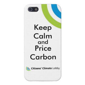 """Cas de l'iPhone 5/5S """"gardez calme"""" de CCL Étui iPhone 5"""