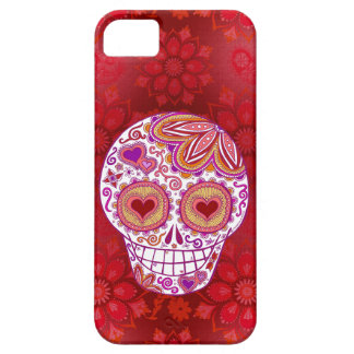 Cas de l'iPhone 5 d'amour de crâne de sucre