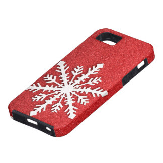 Cas de l'iphone 5 de flocon de neige de vacances coques Case-Mate iPhone 5