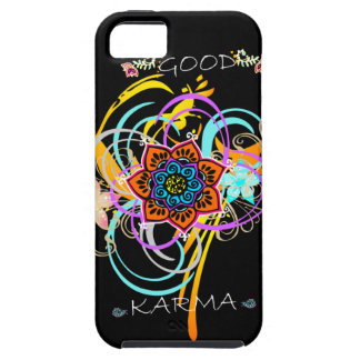 Cas de l'iPhone 5 de remous de fleur de mandala de Coque Case-Mate iPhone 5