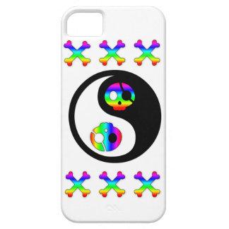 Cas de l'iphone 5 de Yin Yang de pirate d'arc-en-c Étuis iPhone 5