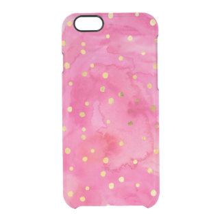 Cas de l'iPhone 6/6s d'aquarelle de points et de Coque iPhone 6/6S