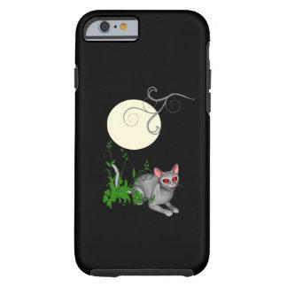 Cas de l'iPhone 6 de chat de Kitty de pleine lune