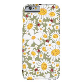 Cas de l'iPhone 6 de coccinelles de marguerites bl