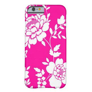 Cas de l'iPhone 6 de conception de fleur rose et b