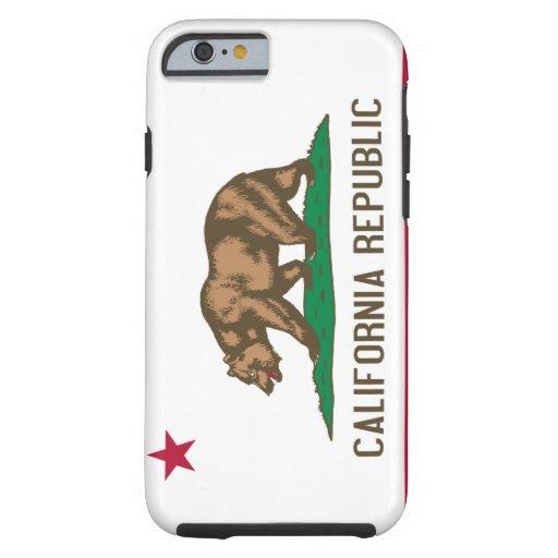 Cas de l'iPhone 6 de drapeau de la Californie Coque iPhone 6 Tough