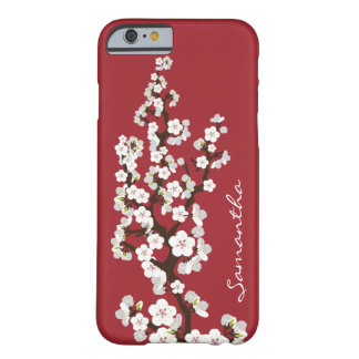Cas de l'iPhone 6 de fleurs de cerisier (rouge) Coque Barely There iPhone 6