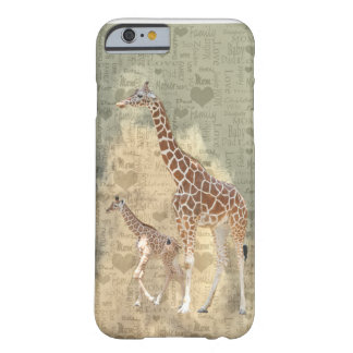 Cas de l'iPhone 6 de girafe de maman et de famille