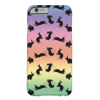 Cas de l'iPhone 6 de lapins de Binky (arc-en-ciel) Coque iPhone 6 Barely There
