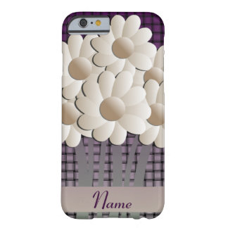 Cas de l'iPhone 6 de marguerites et de panier Coque Barely There iPhone 6