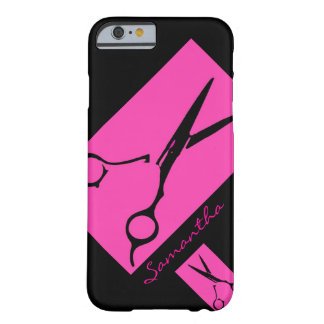 Cas de l'iPhone 6 de noir de rose de styliste de s Coque iPhone 6 Barely There