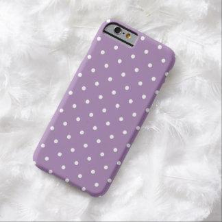 cas de l'iPhone 6 de point de polka de violette Coque iPhone 6 Barely There