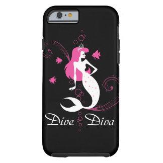 "Cas de l'iPhone 6 de sirène de rose ""de diva de Coque iPhone 6 Tough"