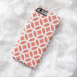 cas de l'iPhone 6 - motif géométrique de corail Coque Barely There iPhone 6