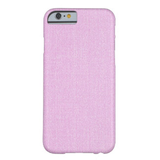 cas de l'iPhone 6 - solide texturisé - rose-clair Coque iPhone 6 Barely There