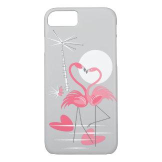 Cas de l'iPhone 7 d'amour de flamant Coque iPhone 7