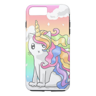 Cas de l'iPhone 7 de Caticorn d'arc-en-ciel Coque iPhone 8 Plus/7 Plus