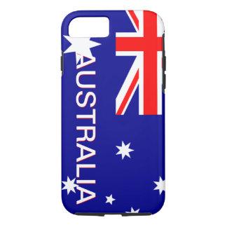 Cas de l'iPhone 7 de l'Australie de rouge bleu et Coque iPhone 7