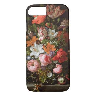 Cas de l'iPhone 7 de roses, de lis, et de tulipes Coque iPhone 7