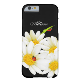 Cas de l'iPhone personnalisé 6 de marguerites et d Coque iPhone 6 Barely There