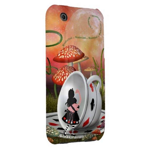 Cas de l'iPhone surréaliste 3G d'Alice, de flamant Coque Case-Mate iPhone 3