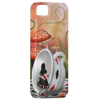 Cas de l'iPhone surréaliste 5 d'Alice, de flamant Coque iPhone 5 Case-Mate