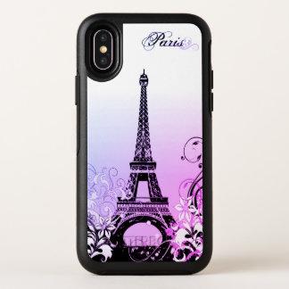 Cas de l'iPhone X de Paris OtterBox de Tour Eiffel