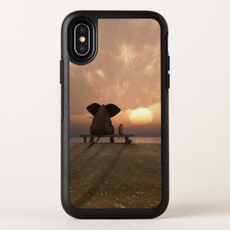 Cas de l'iPhone X d'OtterBox d'amis d'éléphant et
