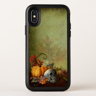 Cas de l'iPhone X d'OtterBox de crâne de Halloween