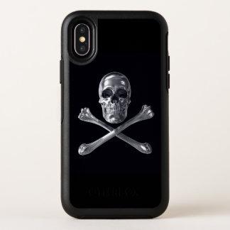 Cas de l'iPhone X d'OtterBox de crâne de jolly