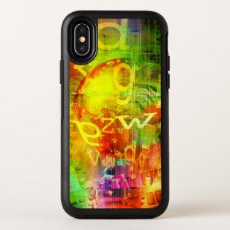 Cas de l'iPhone X d'OtterBox de graffiti de