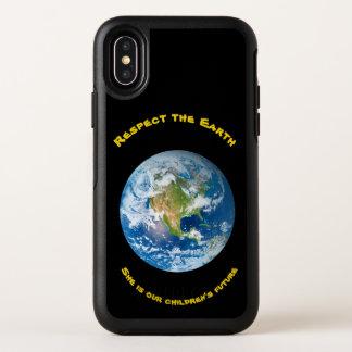 Cas de l'iPhone X d'OtterBox de la terre de