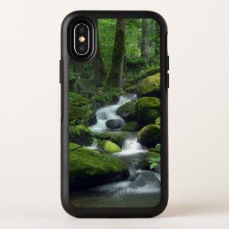 Cas de l'iPhone X d'OtterBox de ruisseau de forêt
