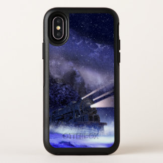 Cas de l'iPhone X d'OtterBox de train de nuit de