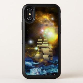 Cas de l'iPhone X d'OtterBox d'univers de bateau