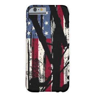 Cas de monteur de lignes de drapeau américain coque iPhone 6 barely there