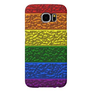 Cas de Samsung S6 de drapeau de chrome de gay