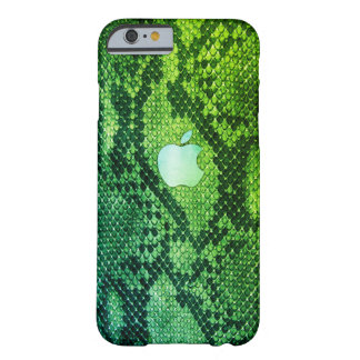 Cas de style de peau de serpent vert coque iPhone 6 barely there