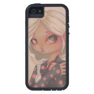 Cas de téléphone d art d imaginaire de fille de étui iPhone 5