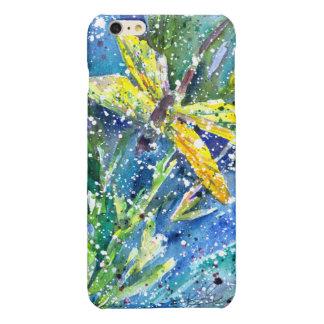 Cas de téléphone d'aquarelle d'été de libellule