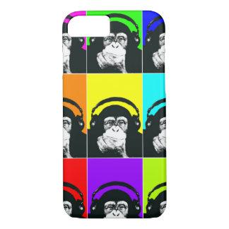 Cas de téléphone d'art de bruit de singe de hanche coque iPhone 7
