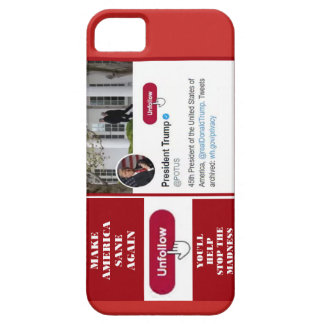 Cas de téléphone d'atout d'Unfollow de Coques iPhone 5 Case-Mate