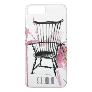 Cas de téléphone de chaise de Windsor d'aquarelle Coque iPhone 7 Plus
