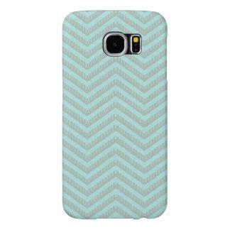 Cas de téléphone de Chevron d'Aqua de turquoise