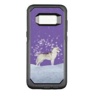 Cas de téléphone de chien de traîneau sibérien de coque samsung galaxy s8 par OtterBox commuter