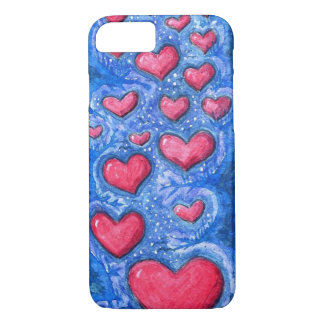 cas de téléphone de ciel de coeur coque iPhone 7