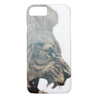 Cas de téléphone de lion coque iPhone 8/7